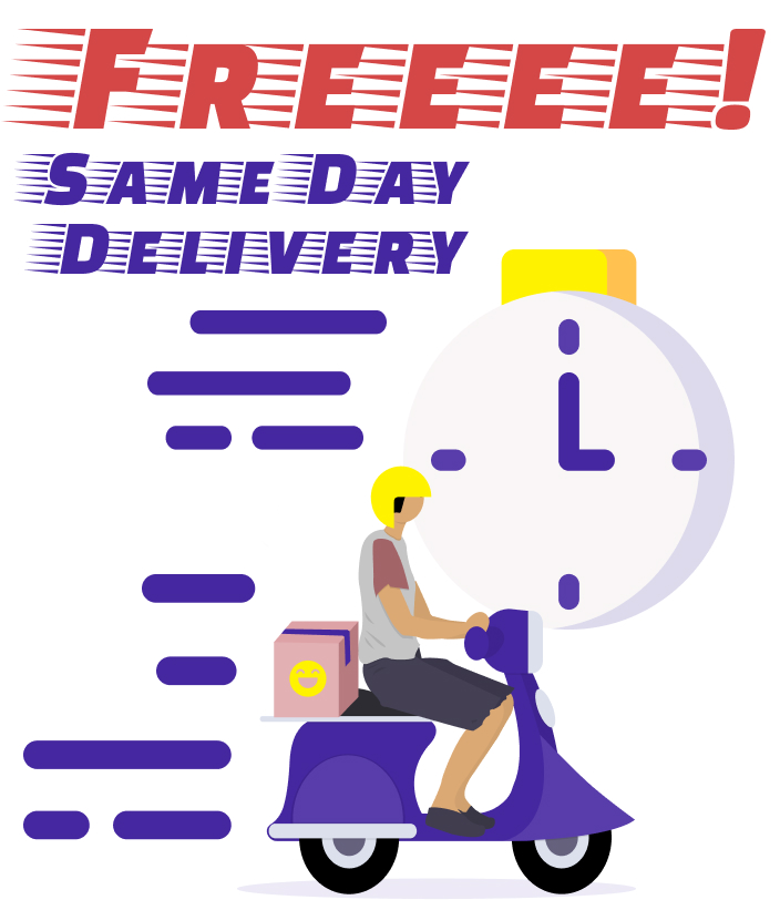free delivery or pick up